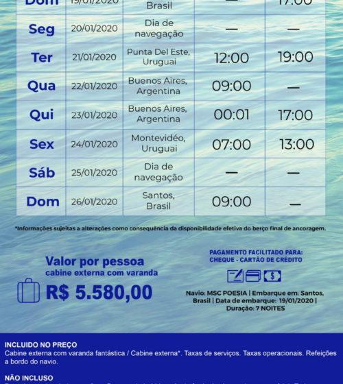 Cruzeiro Immersion sobre as águas